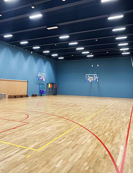 Баскетбольный зал школы «Летово», аналогов которой нет в России