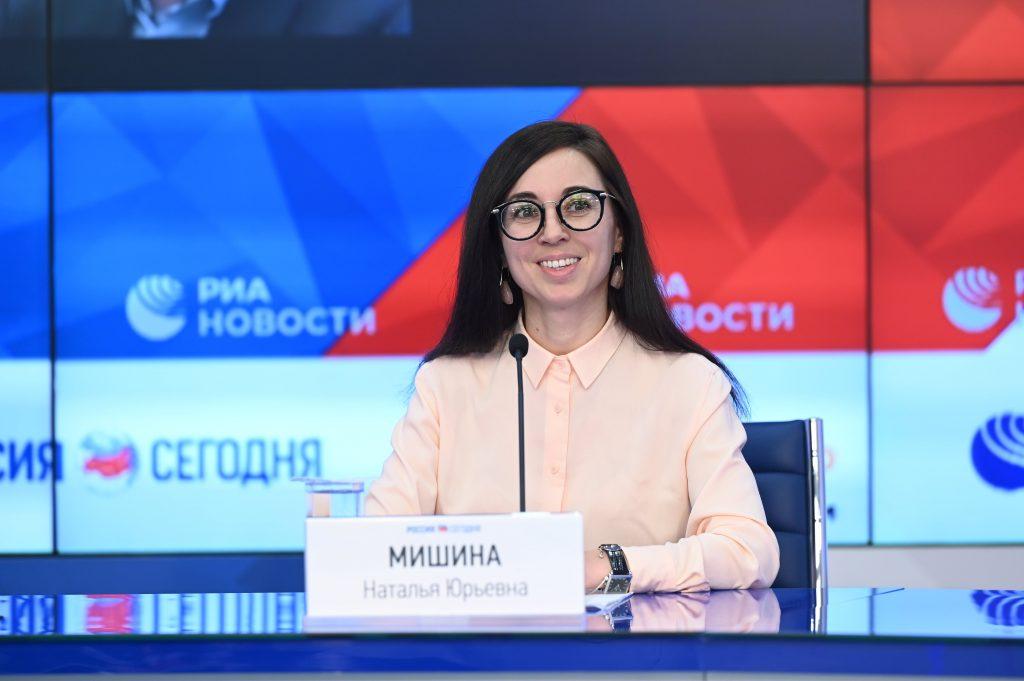 Участники пресс-конференции, на которой представили платформу актуальных материалов по русскому языку и культуре БанкИнноваций.рф