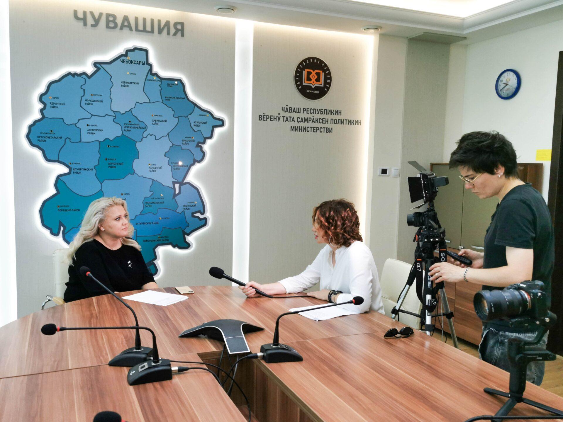 Образовательная экспедиция СОТ в Чувашскую Республику: министр образования и молодежной политики Аллой Салаевой
