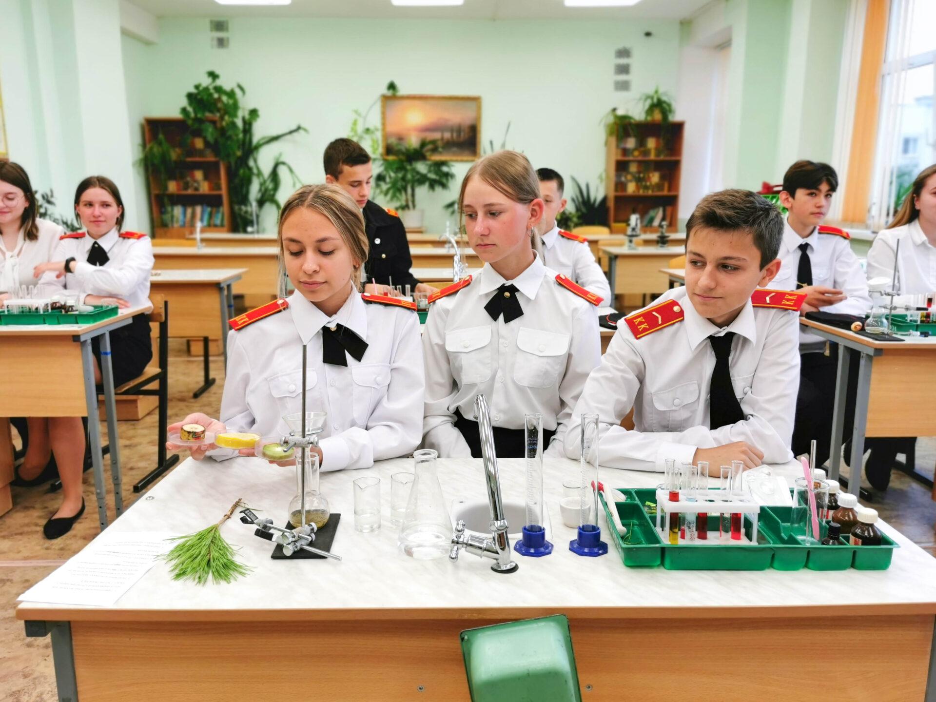 Образовательная экспедиция СОТ в Липецкую область: урок в кадетском классе