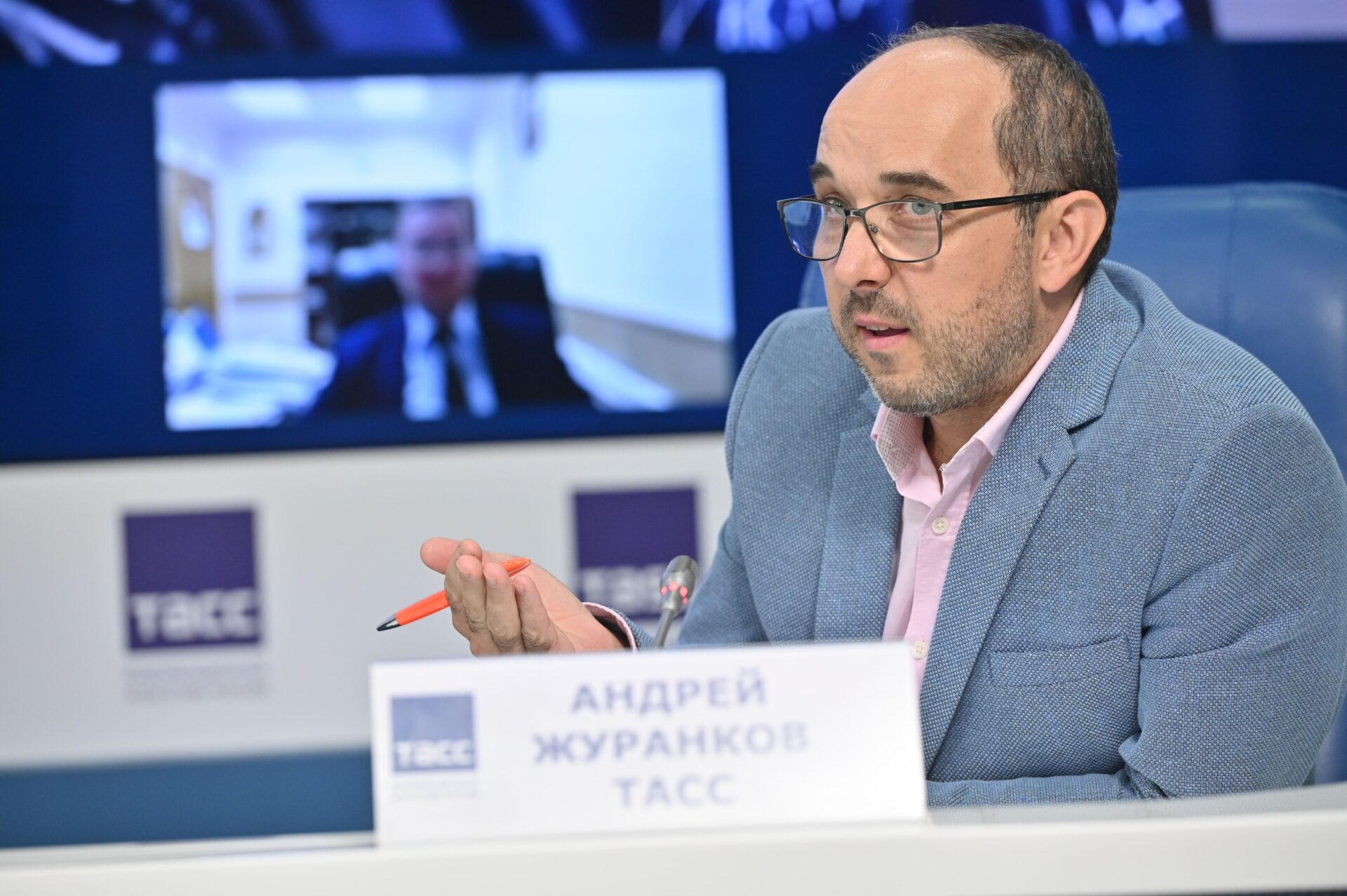 Пресс-конференция по итогам первого этапа конкурса СОТ: Журанков Андрей, руководитель аналитической группы пресс-центра ТАСС