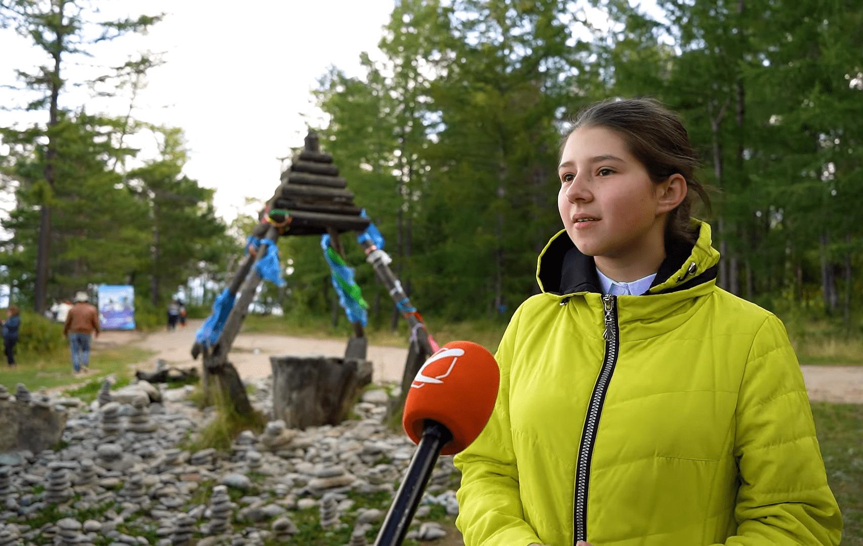 Образовательная экспедиция СОТ в Республику Бурятия: интервью с ученицей туркинской школы о Байкале